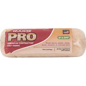 Wooster 0HR2550090 9 in. x 3/4 in Pro American Contractor High-Density Knit Fabric Roller