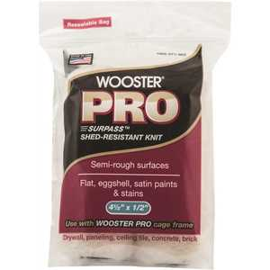 Wooster 0HR2620044 4-1/2 in. x 1/2 in. Pro Surpass Shed-Resistant Knit High-Density Fabric Cage Frame Mini Roller