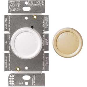 Lutron Electronics Co., Inc 750450 Rotary 1.5 Amp 3-Speed Single-Pole Fan Control, White