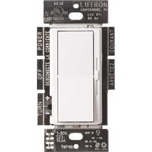 Lutron DVCL-153PR-WH Single-Pole or 3-Way Diva C.L Dimmer Switch for Dimmable LED, Halogen and Incandescent Bulbs, White