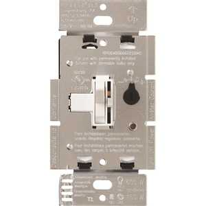 Lutron TGCL-153PR-WH Single-Pole or 3-Way Toggler C.L Dimmer Switch for Dimmable LED, Halogen and Incandescent Bulbs, White