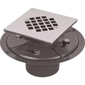 AB&A 63611 AB&A PVC Tile Shower Drain Square Strainer