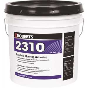 Roberts 2310-4 4 Gal. Resilient Flooring Adhesive for Fiberglass Sheet Goods and Luxury Vinyl Tile