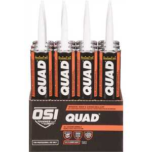 OSI 1634305 QUAD Advanced Formula 10 fl. oz. Gray #517 Window Door and Siding Sealant - pack of 12