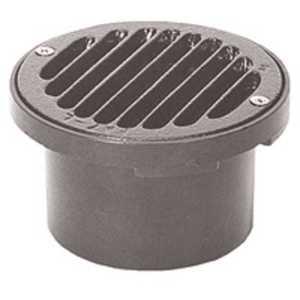 Zurn FD2200-PV4-NT 4 in. Round PVC Floor Drain with Nickel Top