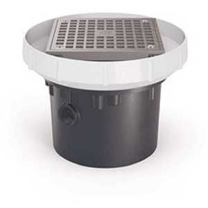 Zurn Industries EZ-PV4-S6 EZ PVC Slab on Grade Drain with 6 in. Nickel Bronze Strainer and 4 in. Outlet