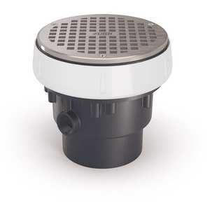Zurn EZ-PV3-R6 EZ PVC Slab on Grade Drain with 6 in. Nickel Bronze Strainer and 3 in. x 4 in. Outlet