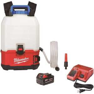 Milwaukee 2820-21WS M18 18-Volt 4 Gal. Lithium-Ion Cordless Switch Tank Backpack Water Supply Kit with 3.0 Ah Battery and Charger