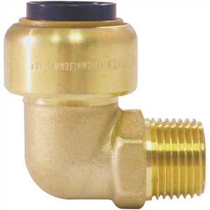 Tectite FSBME1238 1/2 in. Brass Push-To-Connect x 3/8 in. Male Pipe Thread 90-Degree Elbow