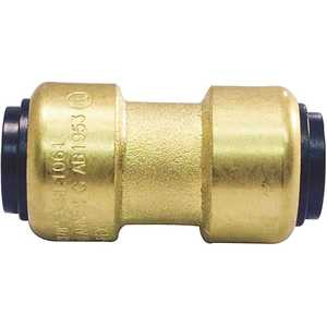 Tectite FSBC38 3/8 in. (1/2 in. O.D.) Brass Push-To-Connect Coupling