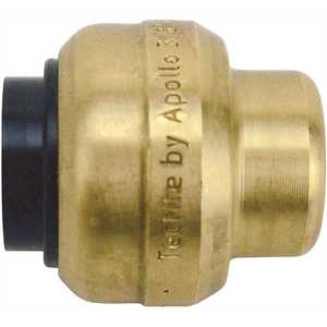 Tectite FSBCAP38 3/8 in. Brass Push-To-Connect Cap