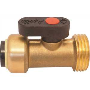Tectite FSBWMSV 1/2 in. Brass Push-To-Connect x 3/4 in. Male Hose Thread Straight Washing Machine Ball Valve