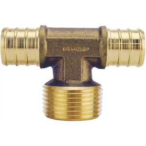 Apollo APXMT34 3/4 in. Brass PEX Barb x 3/4 in. Male Pipe Thread Adapter Tee