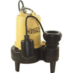 K2 SWW05001TPK 1/2 HP Sewage Pump with Tether Switch
