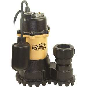 K2 SPI05003TPK 1/2 HP Submersible Sump Pump with Tethered Switch