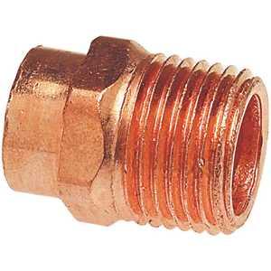 Danco, Inc C604 1 in. x 3/4 in. Copper Pressure Cup x MIPT Male Adapter