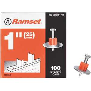 ITW Ramset 00797 1 in. Drive Pins with Washers