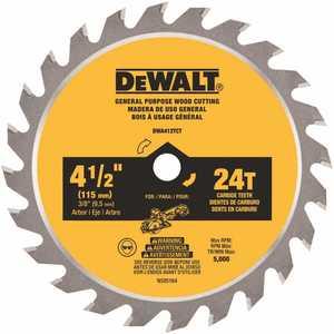 DEWALT DWA412TCT ATOMIC 4-1/2 in. 24-Tooth Circular Saw Blade
