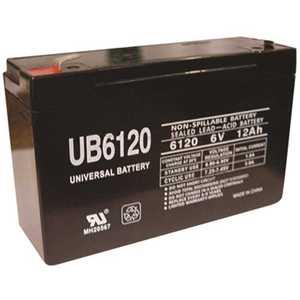 UPG UB6120 6-Volt 12 Ah F2 AGM Battery