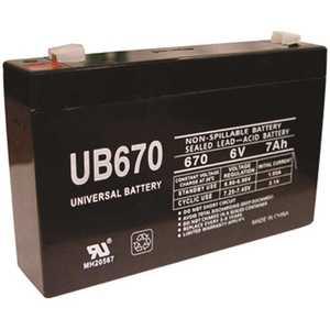 UPG UB670 6-Volt 7 Ah F1 AGM Battery