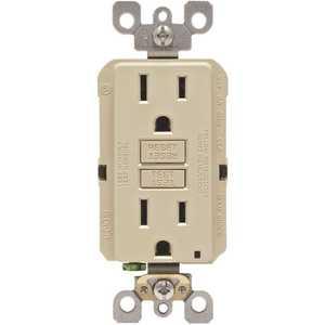 Leviton 001-GFNT1-00I 15 Amp Self-Test SmartlockPro Slim Duplex GFCI Outlet, Ivory