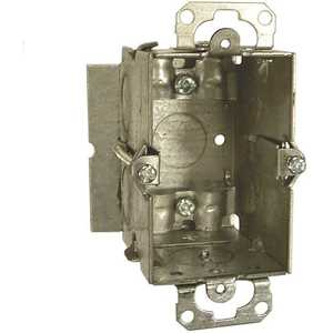 RACO 512 3 in. x 2 in. Gangable Switch Electrical Box, NMSC Clamps and Plaster Ears
