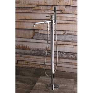 Kingston Brass, Inc HHKS7031DKL Modern Single-Handle Floor-Mount Roman Tub Faucet with Hand Shower in Chrome