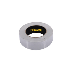 Brixwell AFT11250 Aluminum Foil Tape 1 1/2 Inch x 50 Yards Multi-Purpose Professional Grade Made in USA