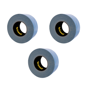 Brixwell DT2X20GRY-XCP3 3 Rolls - Duct Tape Grey Professional Grade 2 Inch x 20 Yards Made in the USA