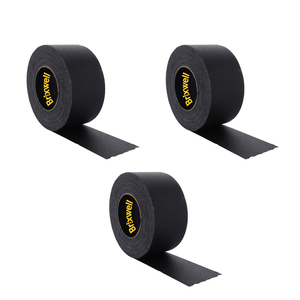 Brixwell GF355MBLK-XCP3 3 Rolls - Gaffer Tape Matte Black Professional Grade 3 Inch x 50 Yards Heavy Duty Gaffers Tape Non-Reflective Multipurpose Made in the USA