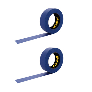Brixwell PT11260B-XCP2 2 Rolls - Pro Blue Painters Masking Tape 1 1/2 Inch x 60 Yard Made in the USA