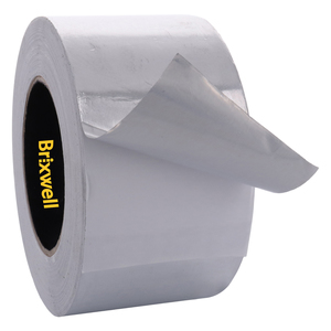 Brixwell AFT30050 Aluminum Foil Tape 3 Inch x 50 Yards Multi-Purpose Professional Grade Made in USA