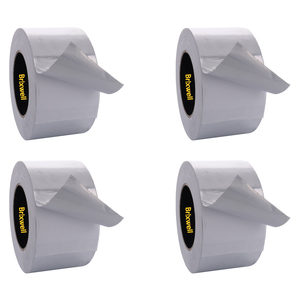 Brixwell AFT30050-XCP4 4 Rolls - Aluminum Foil Tape 3 Inch x 50 Yards Multi-Purpose Professional Grade Made in USA