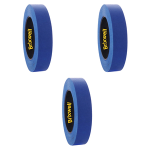 Brixwell DKH100001-XCP3 3 Rolls - Pro Blue Painters Masking Tape 0.94 Inch x 60 Yard Made in the USA