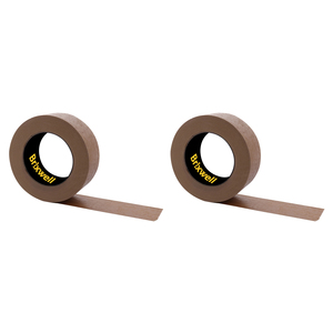 Brixwell DKH100006-XCP2 2 Rolls - Flatback Brown Paper Packing Tape 2 Inch x 60 Yard Made in the USA