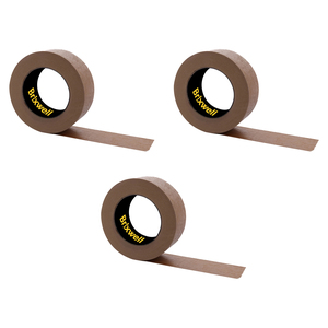 Brixwell DKH100006-XCP3 3 Rolls - Flatback Brown Paper Packing Tape 2 Inch x 60 Yard Made in the USA