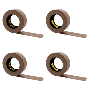 Brixwell DKH100006-XCP4 4 Rolls - Flatback Brown Paper Packing Tape 2 Inch x 60 Yard Made in the USA