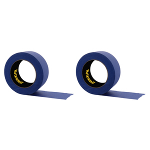 Brixwell PT20060B-XCP2 2 Rolls - Pro Blue Painters Masking Tape 2 Inch x 60 Yard Made in the USA