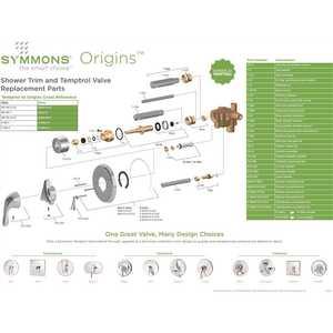 Chrome Symmons S-9600-P Origins 1-Handle Shower Faucet System