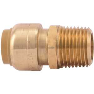 SharkBite U120LF 1/2 in. Brass Push-to-Connect Straight Connector Male NPT