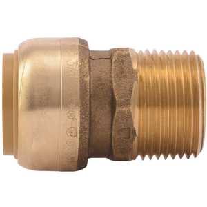 SharkBite U134LF 3/4 in. Brass Push-to-Connect Straight Connector Male NPT