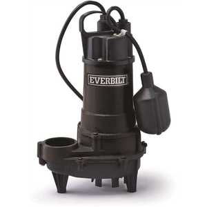 ECO-FLO Products HDEFR50W Everbilt 1/2 HP Effluent Pump with Tethered Switch