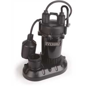 ECO-FLO Products HDPS50W Everbilt 1/2 HP Submersible Aluminum Sump Pump with Tethered Switch