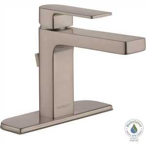 Peerless P1519LF-BN-0.5 Xander 4 in. Centerset Single-Handle Bathroom Faucet in Brushed Nickel