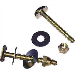 HERCULES 90104 Johni-Bolts 1/4 in. x 2-1/2 in. Brass Closet Bolts