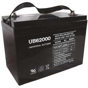 UPG UB62000 (Grp 27 Case) 6-Volt 200 Ah I4 Terminal Sealed Lead Acid (SLA) AGM Rechargeable Battery