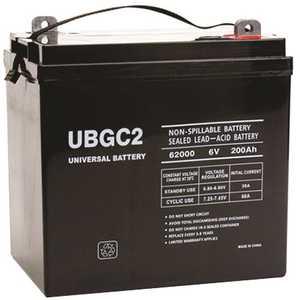 UPG UB-GC2 (Golf Cart) 6-Volt 200 Ah L5 Terminal Sealed Lead Acid (SLA) AGM Rechargeable Battery