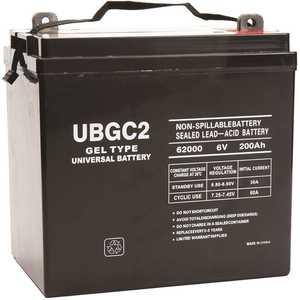 UPG UB-GC2 (Golf Cart) Gel 6-Volt 200 Ah L5 Terminal Sealed Lead Acid (SLA) GEL Rechargeable Battery