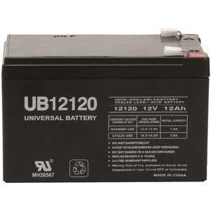 Universal Power Group UB12120 UPG 12-Volt 12 Ah F2 Terminal Sealed Lead Acid (SLA) AGM Rechargeable Battery