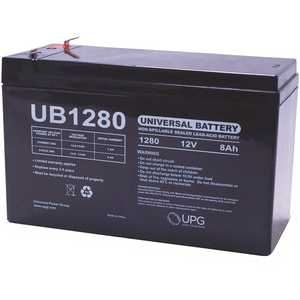 Universal Power Group UB1280 UPG 12-Volt 8 Ah F1 Terminal Sealed Lead Acid (SLA) AGM Rechargeable Battery